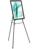 "Black Easel Stand with 22"" x 28"" Snap Frame with Mounting Hardware"