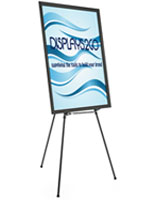 "Black Easel Stand with 36"" x 48"" Snap Frame, Floorstanding"