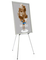 "Silver Easel Stand with 36"" x 48"" Snap Frame with Poster Supports"