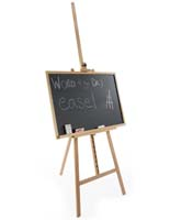 "24"" x 36"" Natural Chalkboard and Easel"