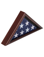 American-Made 3' x 5' Cherry Flag Display Case for Veterans' Burial Ensign