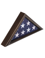 American-Made 3' x 5' Walnut Flag Display Case with Solid Wood Quality