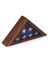 American Flag Frame in Triangular Design