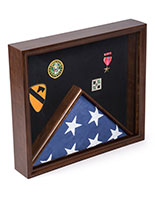 Cherry Flag and Memorabilia Display with Combination Compartments