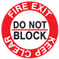 "12"" x 12"" fire safety exit sticker"