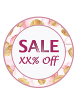 Personalized floral floor sale sticker for promotional events