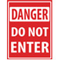 Vinyl danger floor decal do not enter safety sign