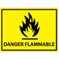 Vinyl flammable industrial danger sign