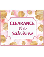 Floral retail clearance floor stickers that withstand foot traffic