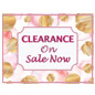 Floral retail clearance floor stickers for indoor or outdoor use