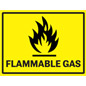 OSHA compliant flammable gas industrial warning sign