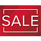 SALE walk on red floor decals for retail promotions