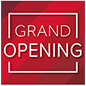 Indoor or outdoor red GRAND OPENING walk on floor stickers