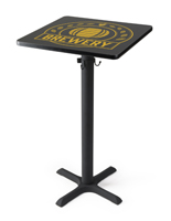 "24"" Digital print-on cocktail table with custom logo"