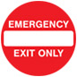 Vinyl emergency exit anti-slip floor sign