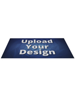 Trade show rectangular floor stick-on decal with custom artwork
