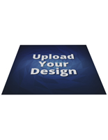 Large floor advertising square decal with custom artwork