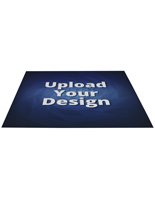 Large custom floor decal rectangle stickers with custom artwork