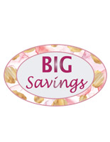 Retail savings vinyl floor signs with oval shape