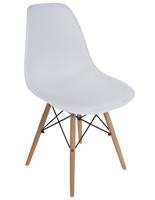 White Molded Plastic Side Chair