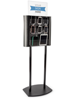 Black Standing iPad Charging Station