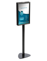 "11"" x 17"" Contemporary Sign Stand with Snap Open Frame"