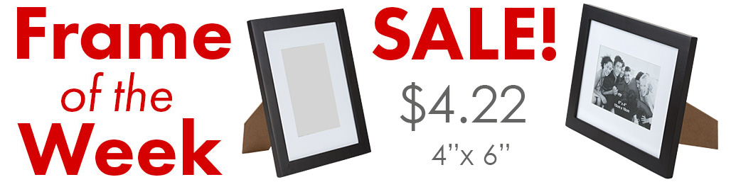 closeout black wooden picture frame sale