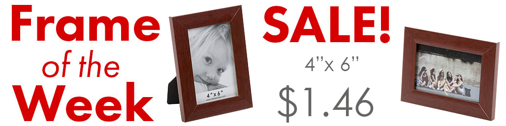closeout redwood picture frame sale