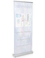 White Reusable Banner Stand