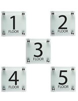 "Floor Level Signage, 6"" Overall Height"