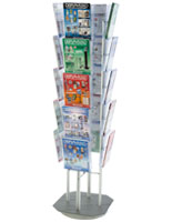 Spinning Magazine Stand With 20 Pockets for Kiosks