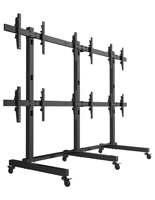 LCD Video Wall Cart, Locking Brackets