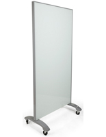 Mobile Full Height Glass Whiteboard, Partition Board