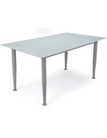 Frosted Glass Whiteboard Desk with Silver Legs