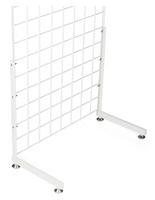 "White ""L"" Shaped Gridwall Base, 12"" Deep"