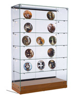 "Glass Curio Display Case, 48"" Overall Width"