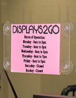 11 x 8.5 Window Sign Holder