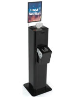 Black Hand Sanitizer Wipes Dispenser