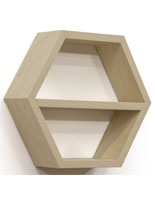 Maple Honeycomb Hexagonal Shelving