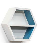 White Hexagonal Shelving Unit