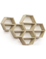 Upscale Floating Honeycomb Shelves