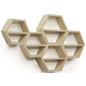 Contemporary Floating Honeycomb Shelves