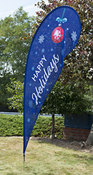 holiday message advertising flag