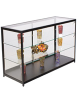 "Showcase Counter with LED Spotlights, 23.75"" Overall Depth"
