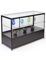 "Lighted Glass Display Counter, 60"" Overall Width"