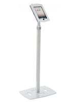 Silver Height Adjustable iPad Display