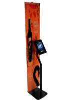 Printed iPad Banner Stand with Adjustable Bracket and Graphic Rails