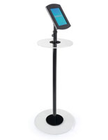 iPad Podium Table with Clear Acrylic Base