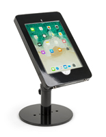 Countertop iPad Pro tablet stand in glossy black
