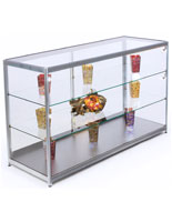 LED Counter Display Case and Foot Levelers